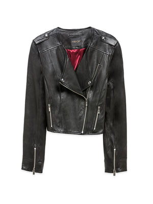 SANDY CROPPED LEATHER JACKET