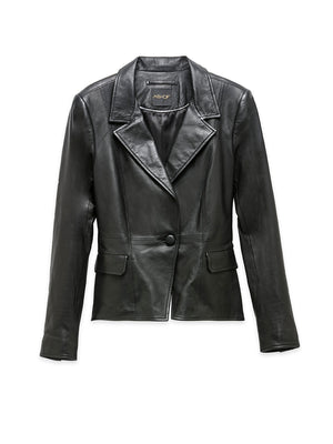 BIANCA LEATHER BLAZER
