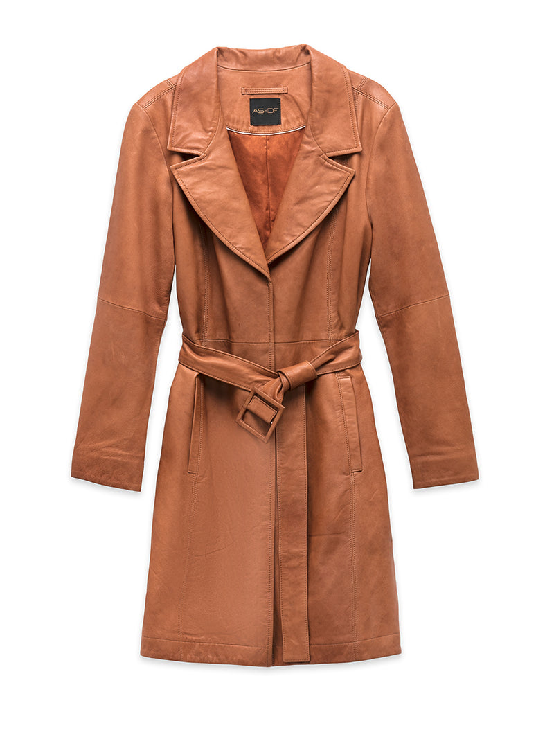 Faye Leather Trench