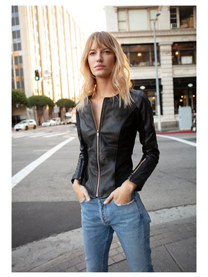 THE BOND GIRL LEATHER JACKET