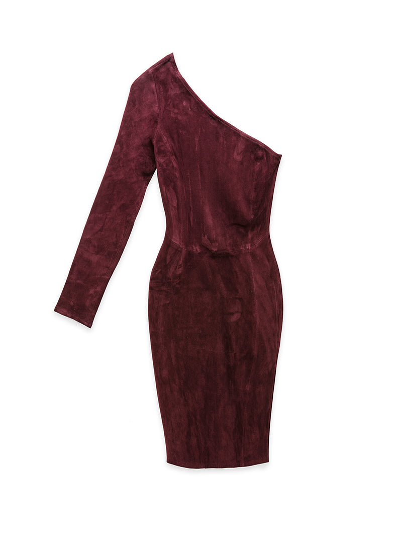 CHIANTI STRETCH SUEDE DRESS