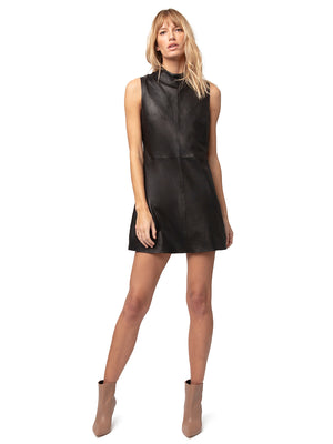 CRAWFORD LEATHER SHIFT DRESS