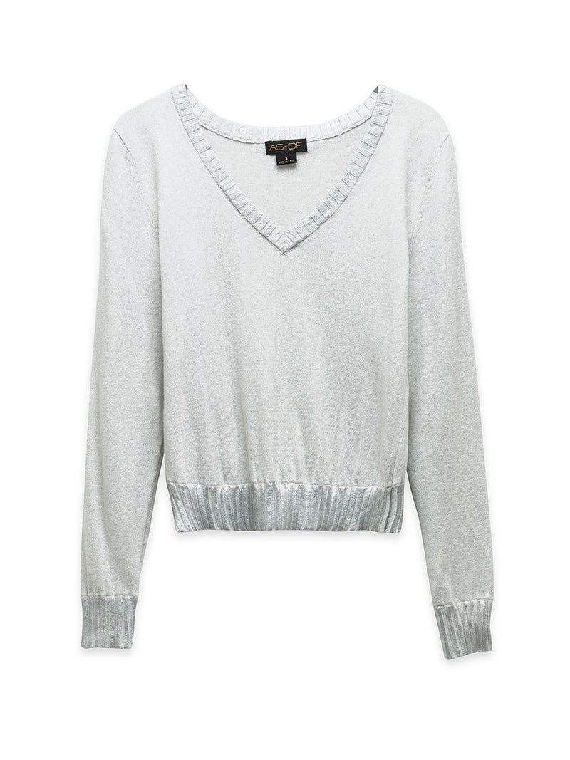 DREAM ON SHRUNKEN V SWEATER