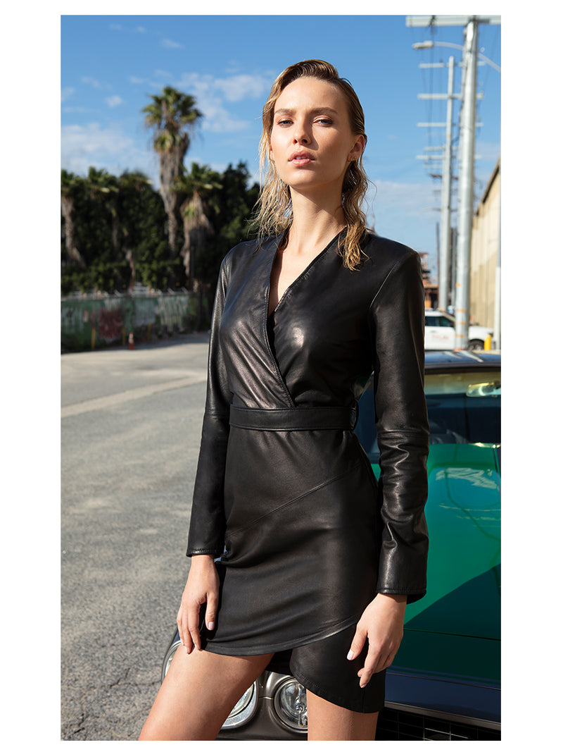 LA NUIT LEATHER DRESS