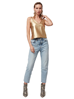 Solid Gold Leather Cami