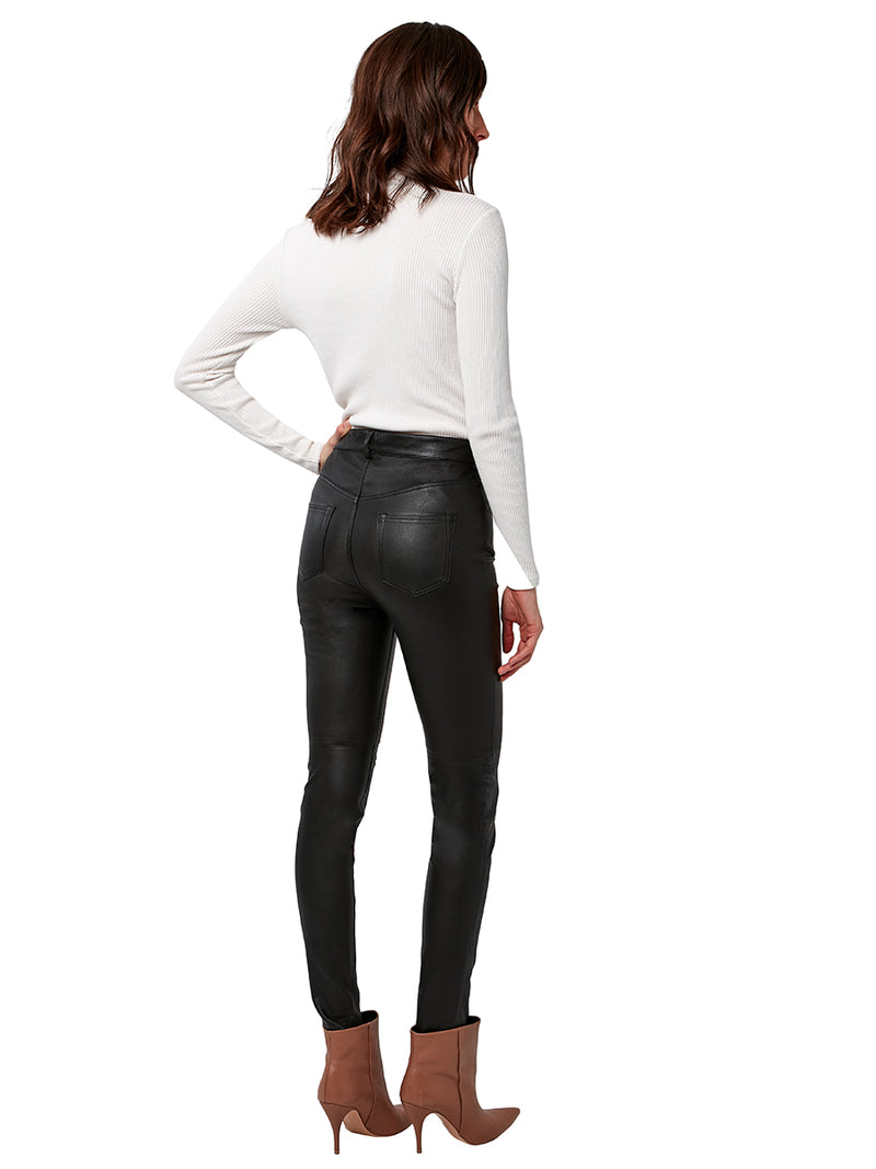 CULT STRETCH LEATHER JEANS