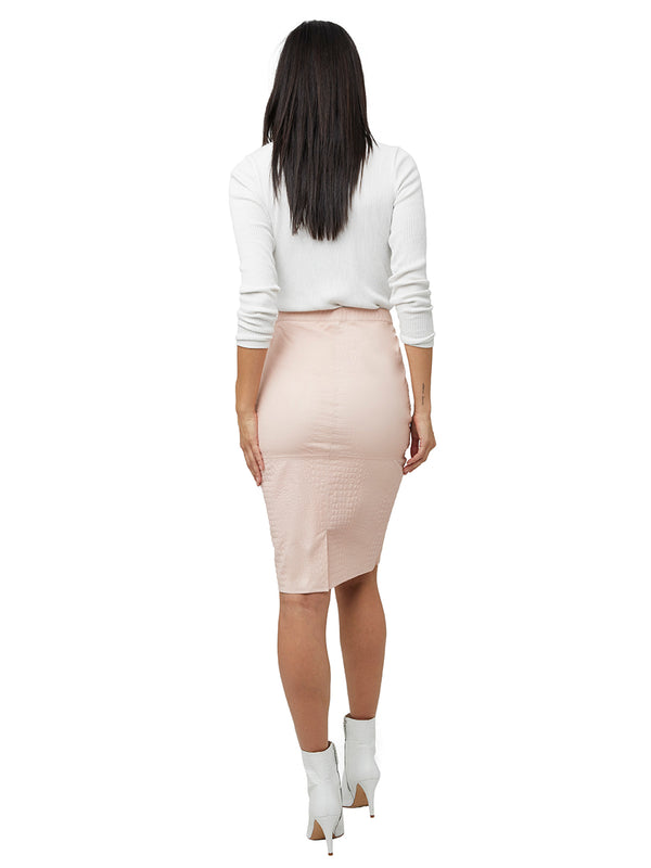 FIRENZE STRETCH LEATHER SKIRT
