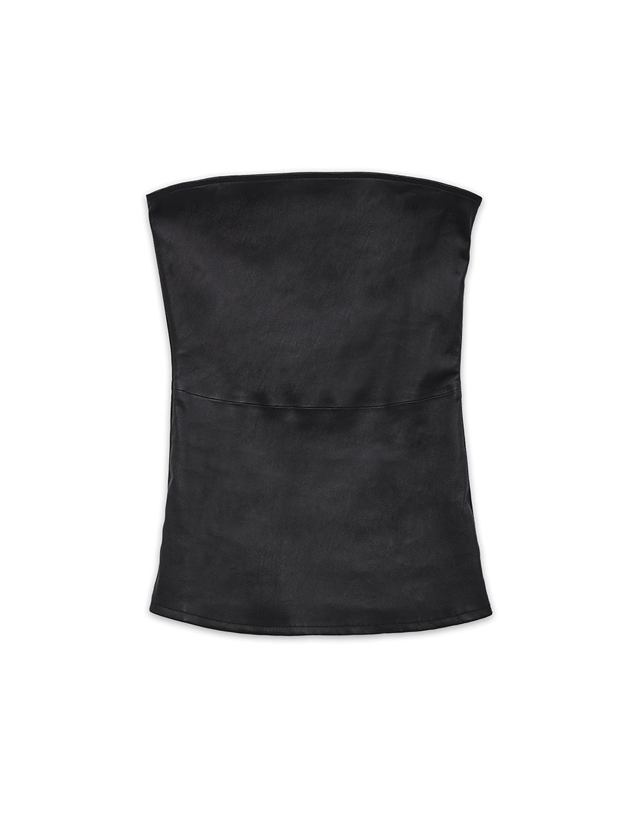 CINEMATIQUE STRETCH LEATHER BUSTIER