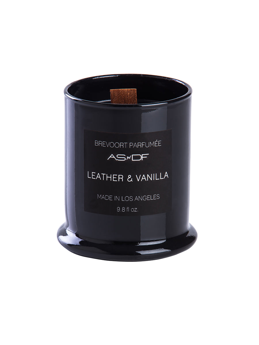 AS BY DF LEATHER & VANILLA CANDLE