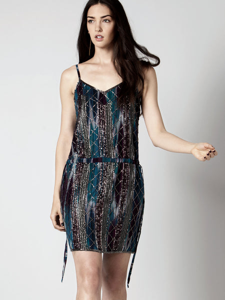 FULL MOON BEADED DRESS