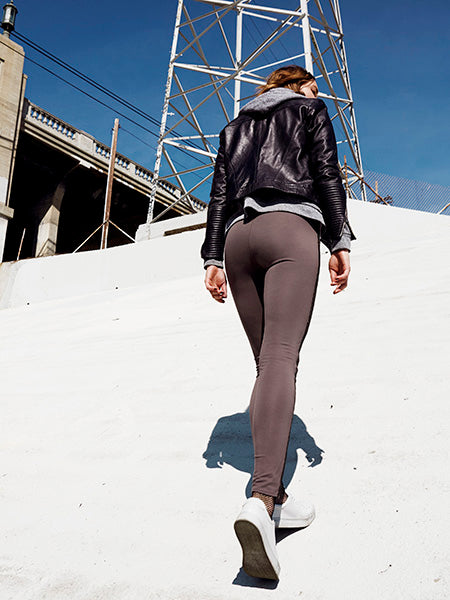 JOGGER SUEDE LEGGINGS