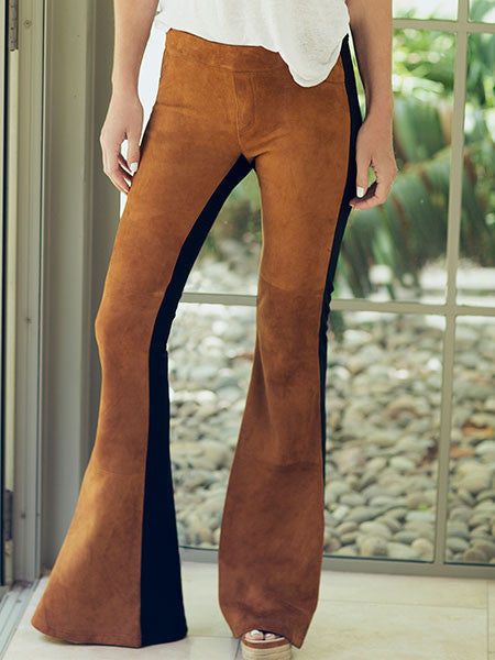 Joni Suede Flare Leggings