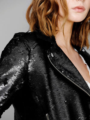 LONDON SEQUIN MOTO JACKET