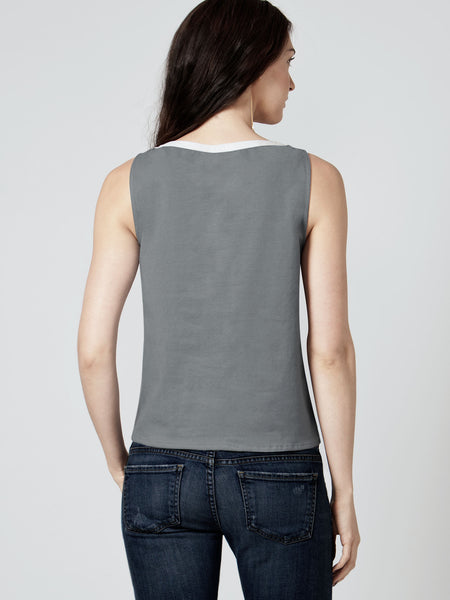 MISS GREY LEATHER TEE
