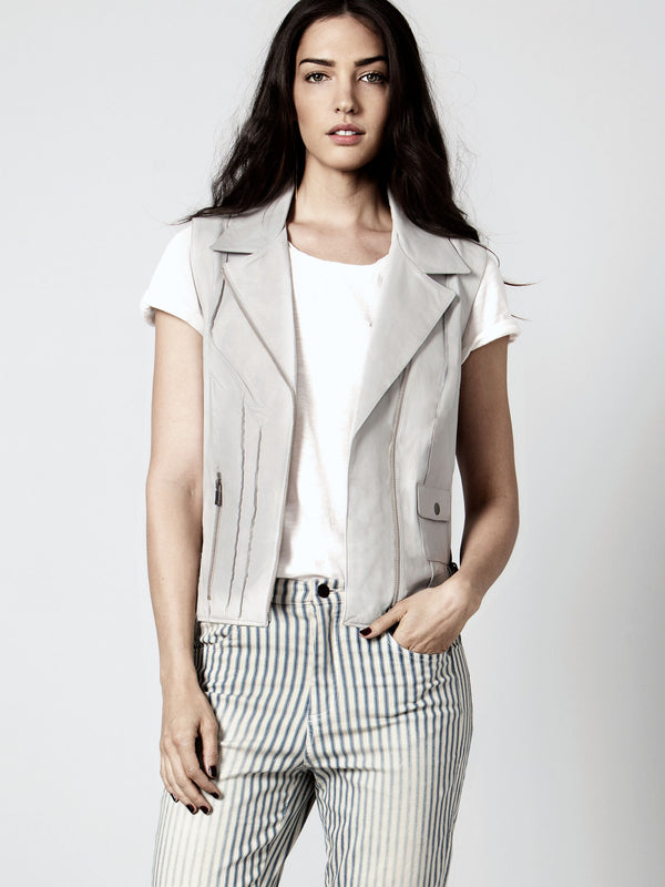 MISS GREY LEATHER VEST