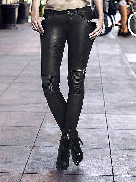 Sam Stretch Leather Pants