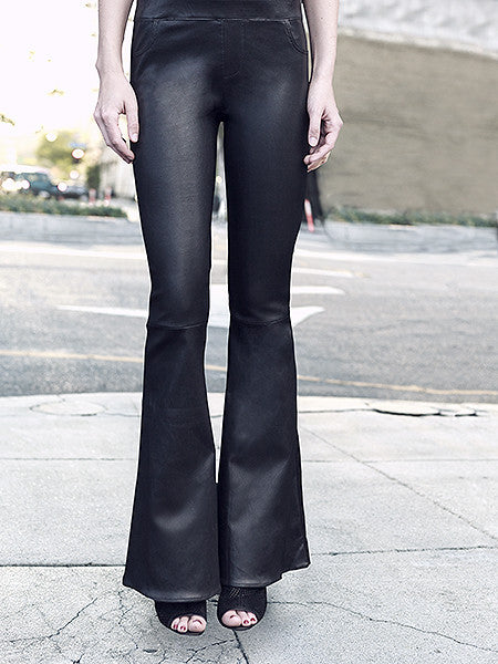 SWEET TALK STRETCH LEATHER FLARES