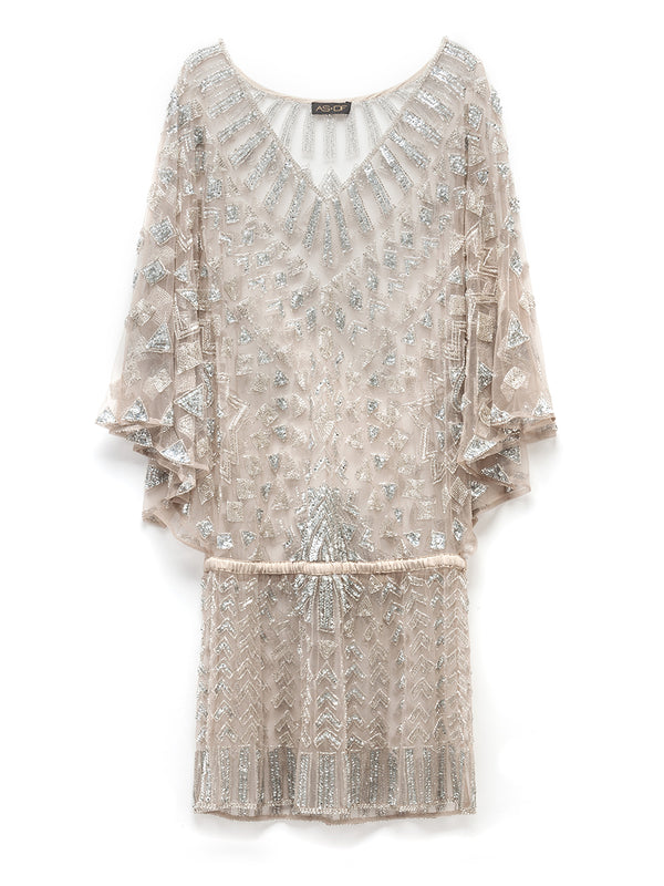 ASTRID SHEER BEADED DRESS