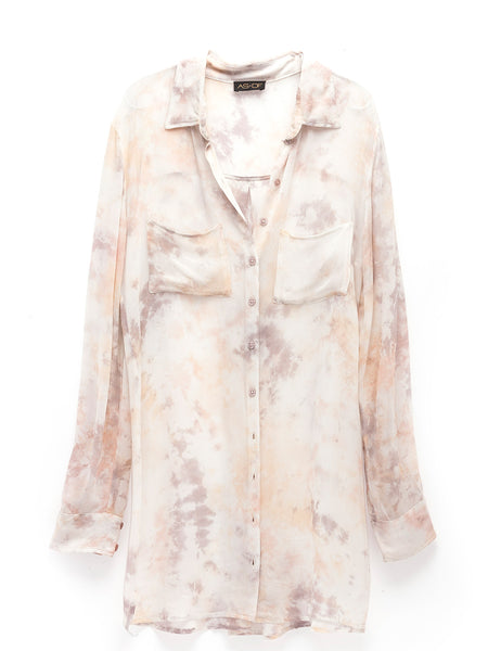 Color Wash Shirtdress