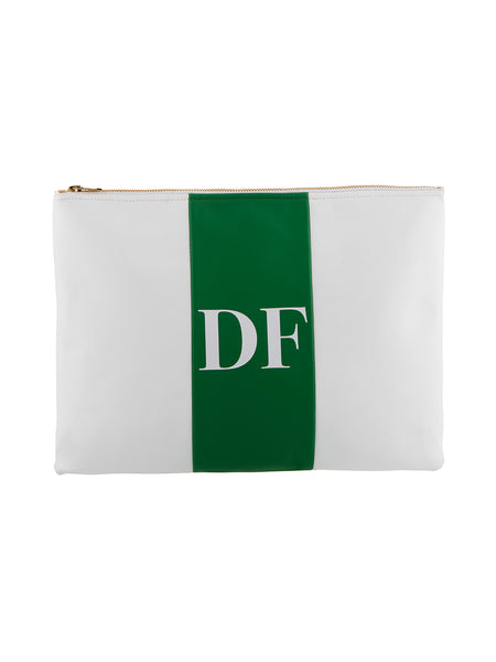 AS by DF Monogram Leather Clutch
