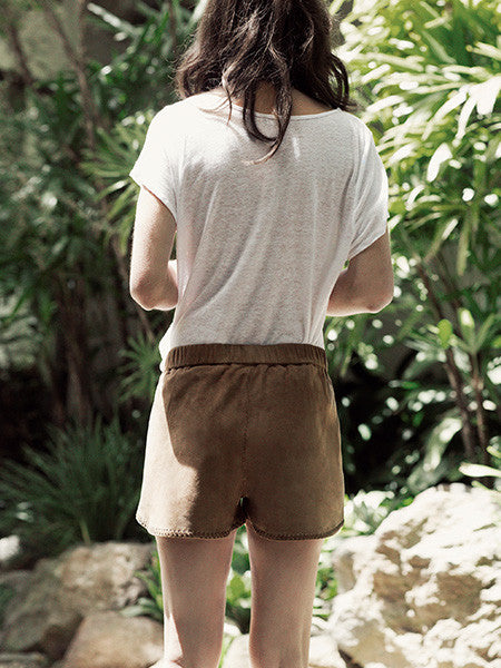 Goddess Suede Shorts