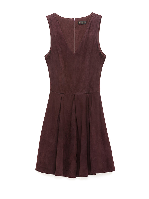 KATHRYN SUEDE DRESS