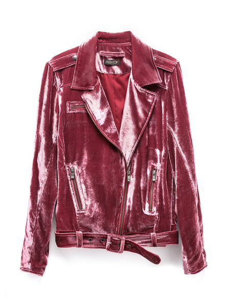 London Velvet Moto Jacket
