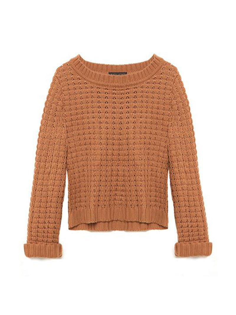 LUCY BASKETWEAVE CROPPED SWEATER