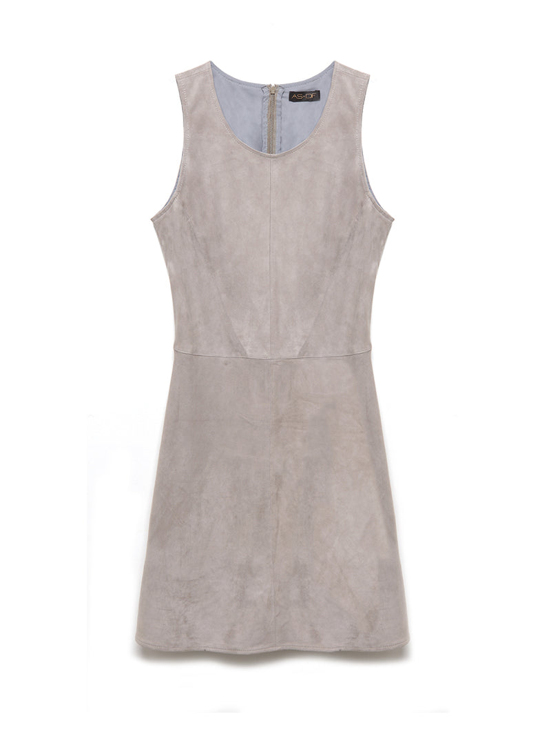 MISS GREY SUEDE DRESS