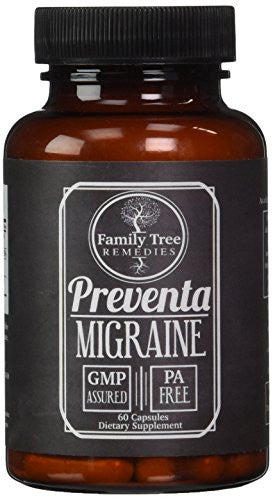 Preventa Migraine- with PA Free Butterbur Root, Magnesium, Riboflavin, and Feverfew