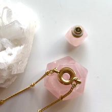 Load image into Gallery viewer, Rose Quartz  Bottle Necklace