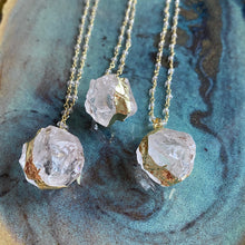 Load image into Gallery viewer, Natural Quartz Crystal 18K Necklace
