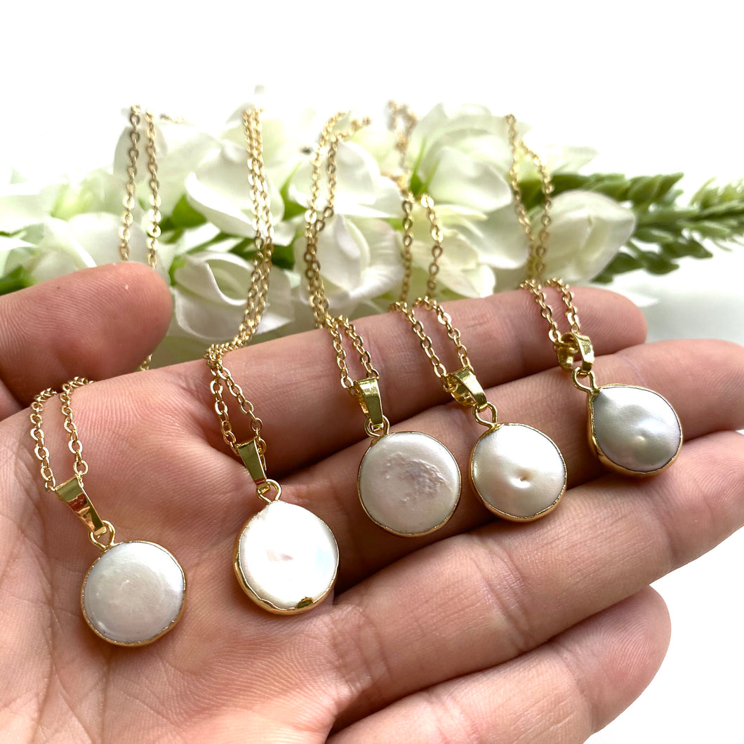 Raw Pearl Necklace