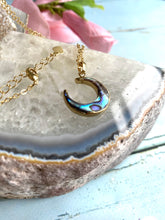 Load image into Gallery viewer, Abalone Shell Moon Necklace