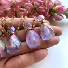 Load image into Gallery viewer, Purple Angel Aurora Bottle Necklace