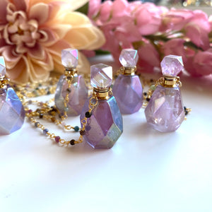 Purple Angel Aurora Bottle Necklace