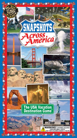 Snapshots Across America-Case of 12 games at Wholesale price