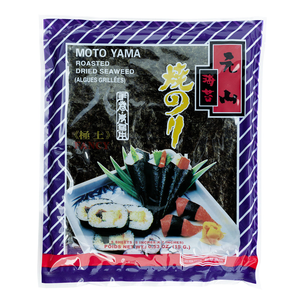 MOTO YAMA ROASTED DRIED SEAWEED (5) 元山5張入乾海苔(特選)