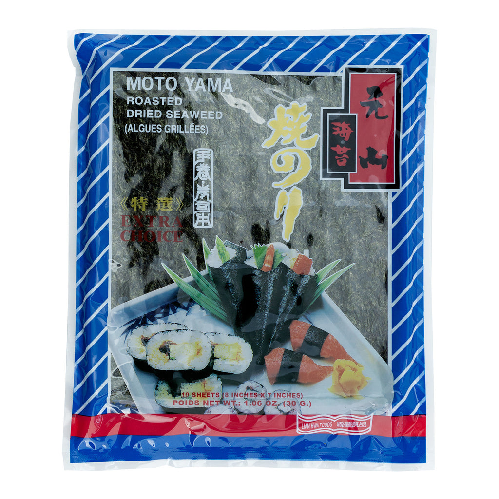 MOTO YAMA ROASTED DRIED SEAWEED (10) 元山10張入乾海苔(特選)