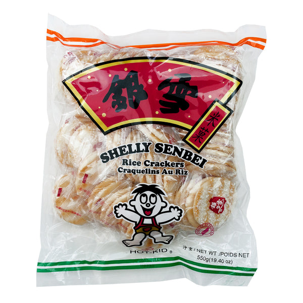 HOT-KID SHELLY SENBEI RICE CRACKERS 銀雪米果 19.4oz