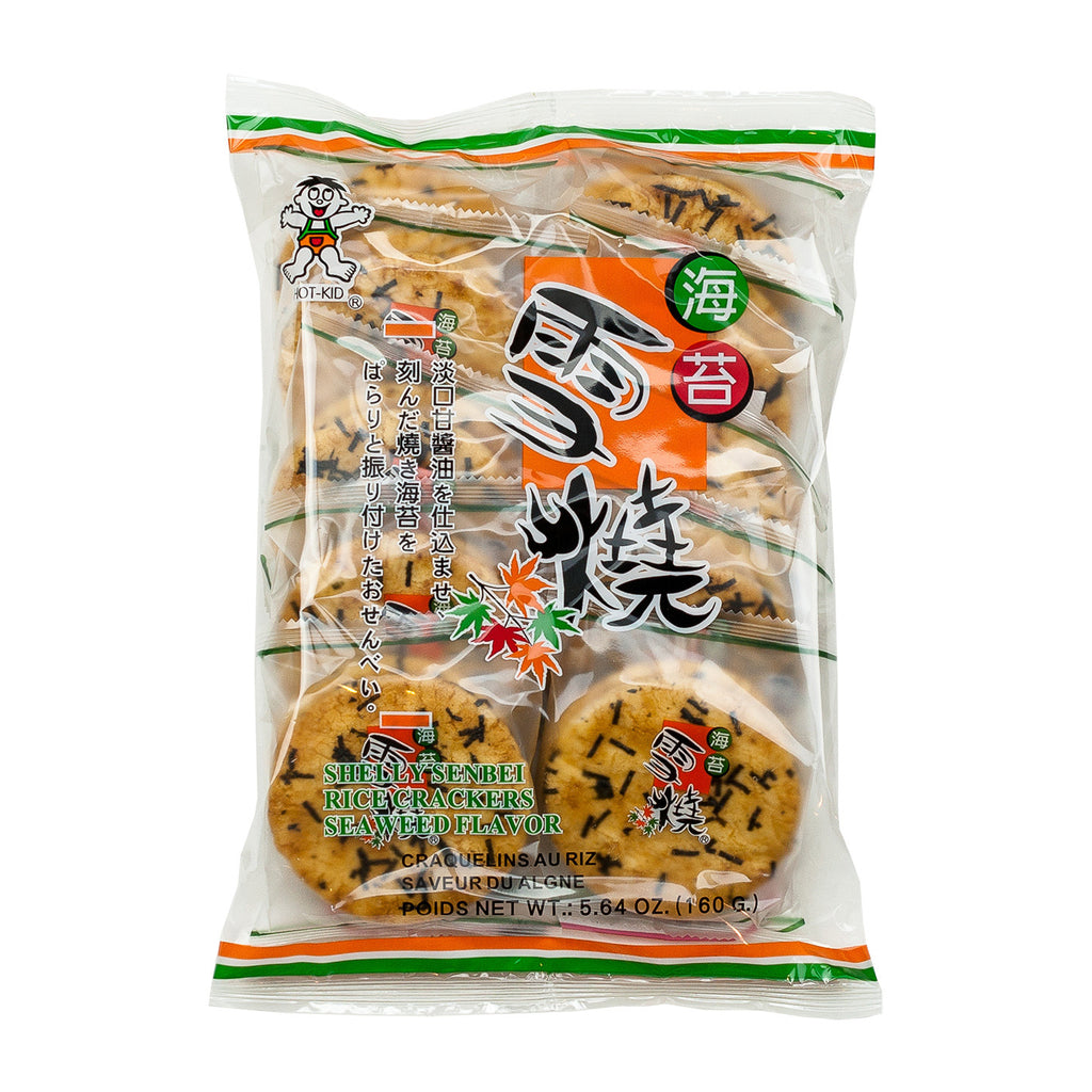 HOT-KID SHELLY SENBEI RICE CRACKERS (SEAWEED) 雪燒仙貝(海苔口味)