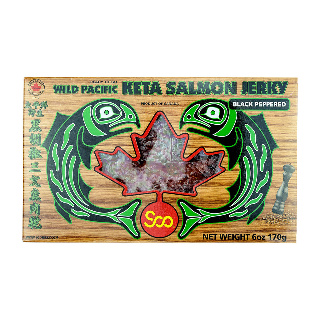 PACIFIC SALMON JERKY (BLACK PEPPERED) 三文魚乾黑胡椒(禮盒)