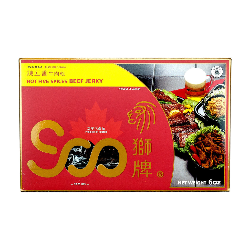 SOO HOT FIVE SPICES BEEF JERKY 辣五香牛肉乾 (禮盒)