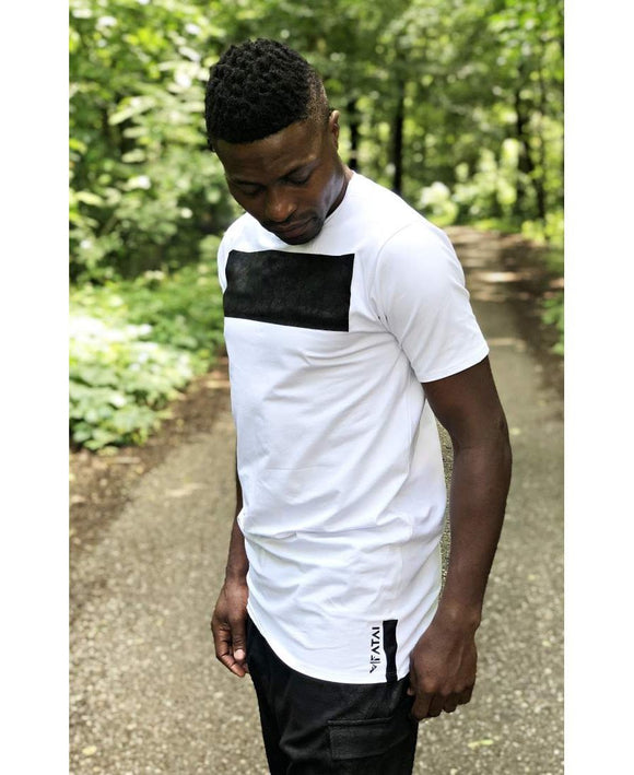 White t-shirt with black design on the front - Fatai Style