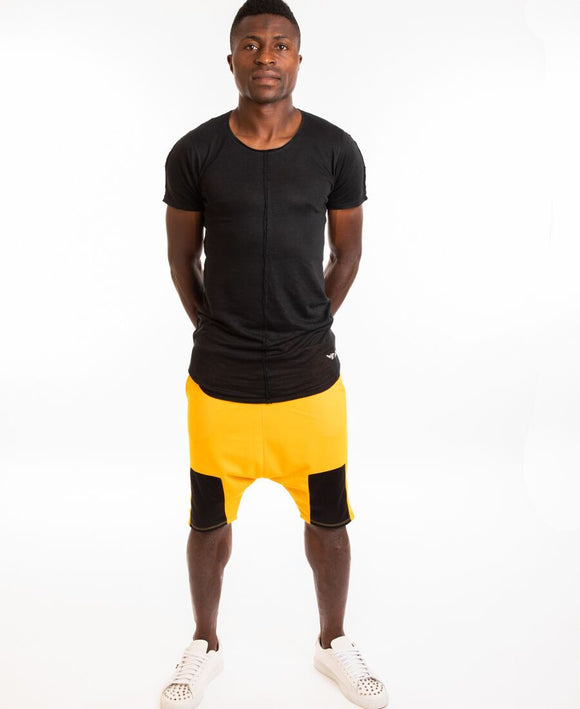 Yellow short trousers with black square - Fatai Style