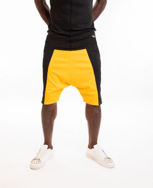 Yellow short trousers with black side - Fatai Style