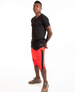 Red short trousers with black line - Fatai Style