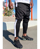 Black Trousers with white line and pocket - Fatai Style