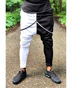 Trousers with white and black design - Fatai Style