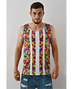 Sleeveless Top ''Puzzle'' - Fatai Style